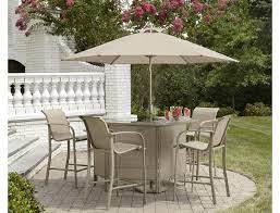 stegner patio furniture bar table set