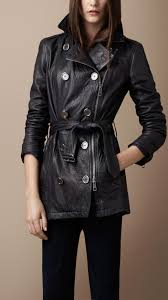 burberry short leather trench coat 38241591 001 iluxdb com