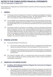 financial statement monetary authority of singapore