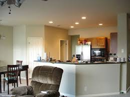 cream kitchen plan with additional recessed lighting ideas