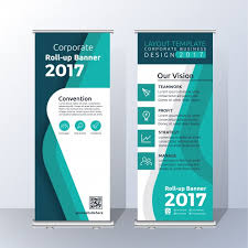 Template For Advertising Vertical Roll Up Banner Template Design For Announce And Advertising
