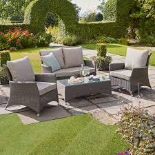 garden set. Canterbury 2 Seater Sofa Rattan Garden Furniture Set
