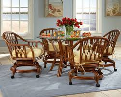 rolling dining room chairs kitchen dinette sets with casters