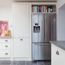 Classic Kitchen With American Style Fridge Freezer Homie