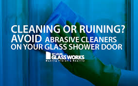 why you should avoid abrasive cleaners on your shower door