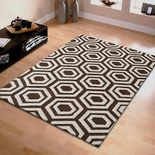 hand tufted geometric wool rug