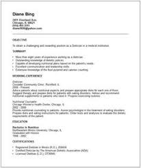 nutritionist resume examples google search clinical dietitian resume