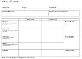 Blank Lesson Plans For Teachers Lesson Plan Templates Engage