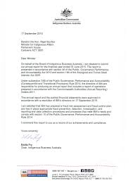 Letters Of Transmittal Letter Of Transmittal Indigenous Business Australia Annual