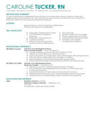 Resume For Registered Nurse Nursing Skills List For Resume Intensive Impressive New Grad Nursing Skills Resume