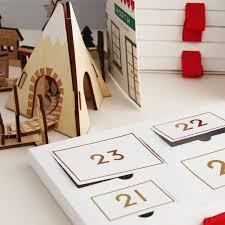 wooden train and railway advent calendar previous