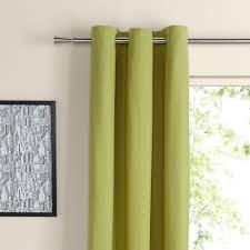 Zen Lime Plain Eyelet Curtains (W)167 cm (L)228 cm | Departments | DIY at  B&Q