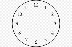 Clock Template Png Download 600 600 Free Transparent