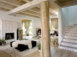 Solid wood and fur, modern cottage decor ideas