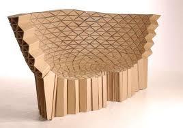 curvy cardboard chair design card board furniture