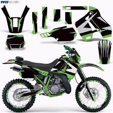 kdx 200 motorcycle parts graphic kit kawasaki kdx 200 bike decals kawi deco w backgrounds kdx200 89 94