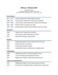Resume Outlines Examples Simple Resume Templates 75 Examples Free Download