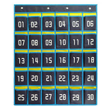 Cell Phone Pocket Chart Details About Numbered Classroom Pocket Chart Hanging Organizer Cell Phones Calculator Holders