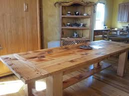Rustic Wood Kitchen Tables Diy Rustic Wood Kitchen Table Cliff Kitchen