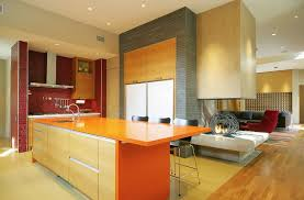 things adding color boring kitchen kitchens yellow countertops ideas red orange white cupboards dark countertop counter backsplash pictures brown cabinets