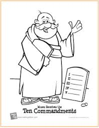 Small Picture Ten Commandments Free Printable Coloring Page