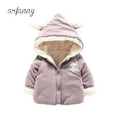 infant winter coat baby 1 2 3 y tide new boys girls cotton clothes plus velvet