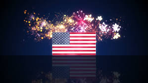 Usa Flag And Fireworks On Stock Footage Video 100 Royalty Free 12552161 Shutterstock