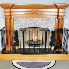 hearthgate child guard fireplace screen decorative floating wall shelf