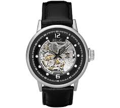 buy relic men s zr77224 automatic skeleton dial watch at argos co relic men s zr77224 automatic skeleton dial watch541 5614
