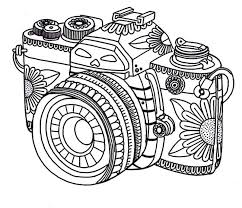 get the coloring page camera