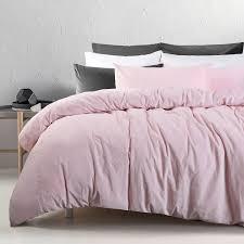 3 pce cotton velvet blush quilt doona duvet cover set queen king super king