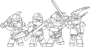 Small Picture Lego Ninjago Coloring Pages To Print Es Coloring Pages