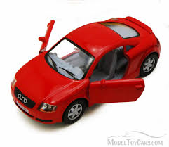 Audi TT Coupe, Red - Kinsmart 5016D - 1/32 scale Diecast Model Toy Car