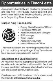 Awesome Burger King Job Description Resume Contemporary - Simple .