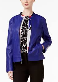 alfani perforated faux leather jacket only at macy s