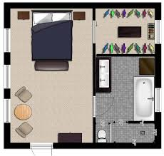large modern style suite floor plans design bedroom and bathroom in colorful look for simple plan