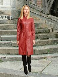 higgs leathers trinity las fitted red leather coats