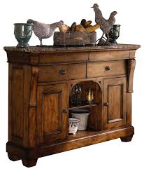 kincaid tuscano solid wood sideboard with marble top traditional buffets and sideboards wooden sideboard furniture