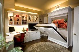 space saving home office. Cozy Fold Down Beds For Small Spaces : Traditional Home Office Neat Space Saving Idea Murphy O