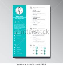 curriculum template unique flat color curriculum vitae design stock vector 684224314