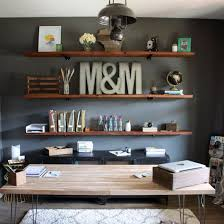 office hanging shelves. install these diy industrial inspired wood shelves in your home office for a functional and rustic hanging l