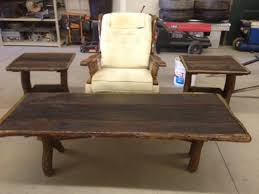 Furniture:Rustic Coffee And End Table Sets Rustic Coffee Table And End  Tables Photo