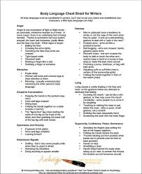 body language cheat sheet not just for writers valuable in any  body language cheat sheet not just for writers valuable in any line of work