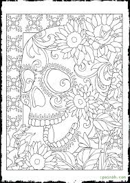 Day Of The Dead Coloring Page Day Of The Dead Coloring Page Day Of