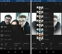 lightroom for android effects
