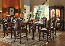 high dining table set traditional counter height set high chair dining table set