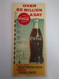 Million Day Chart Details About Vintage Coca Cola Litho Over 60 Million A Day Height Comparison Chart