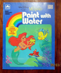 Golden Books Paint With Water Coloring Book Little Mermaid 1989
