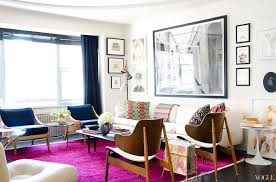 view in gallery vibrant purple rug in the apartment of kyle dewoody via vogue