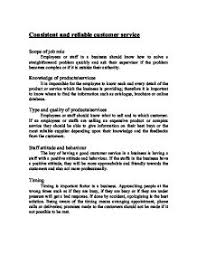 consistent and reliable customer service gcse business studies page 1 zoom in